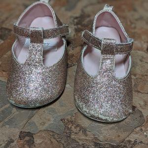 Fancy glitter baby shoes